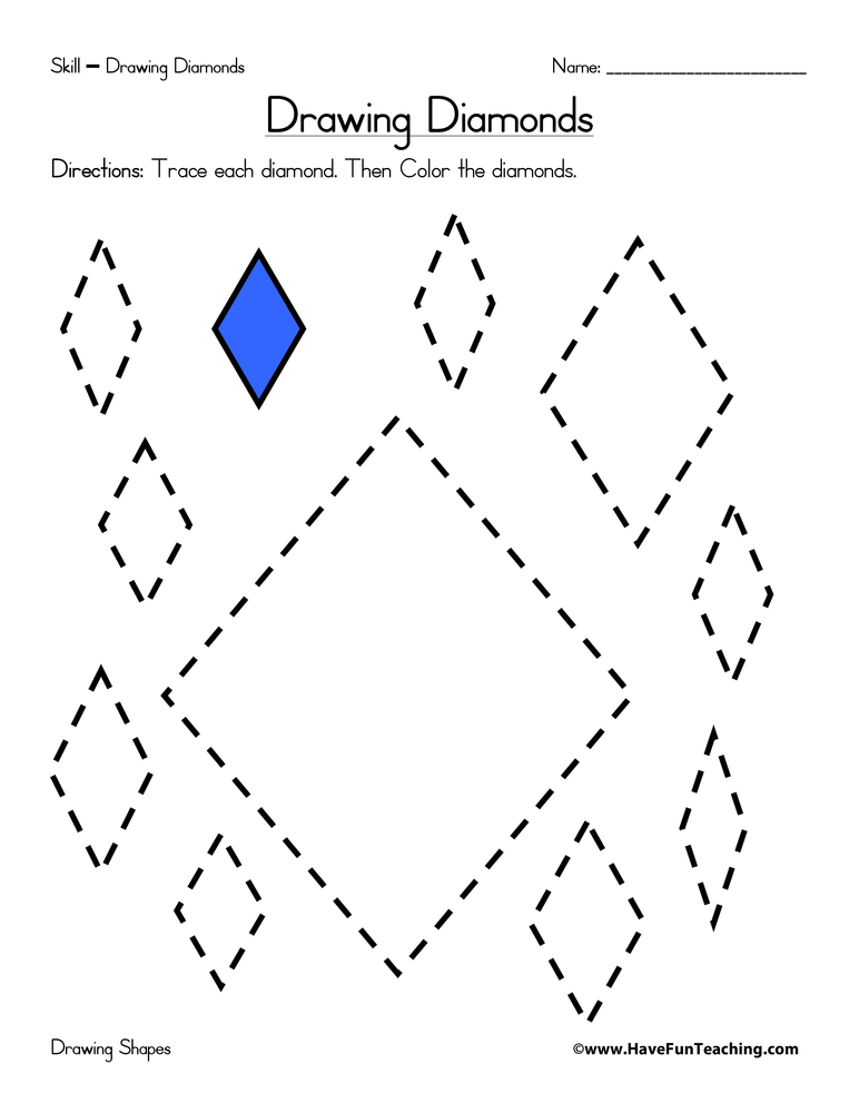 drawing-diamonds-worksheet