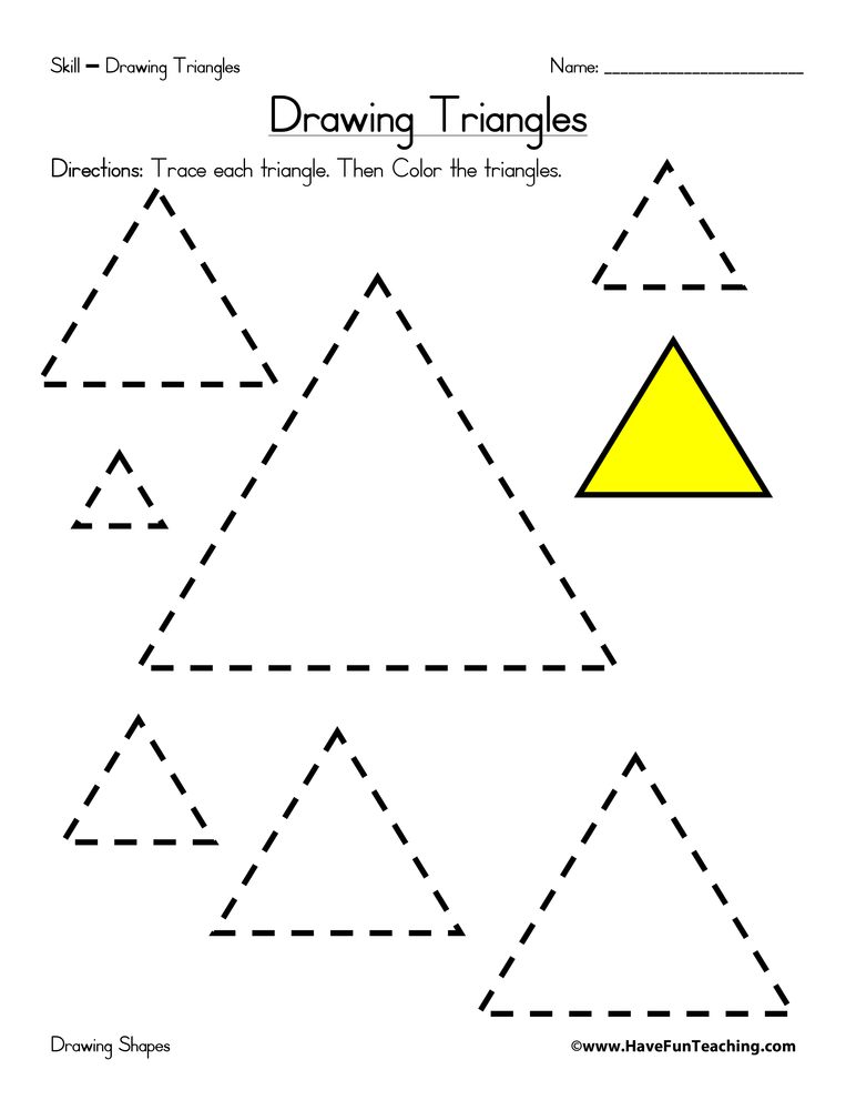 Drawing Triangles Worksheet – Health Triangle Worksheet