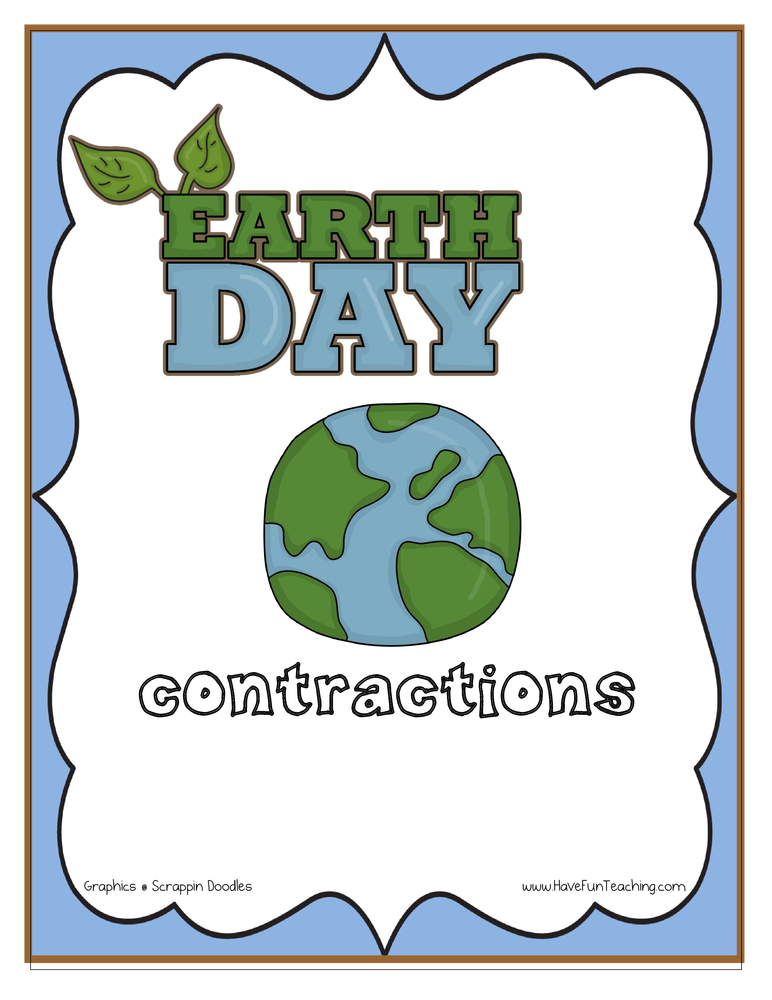 Earth Day Contractions Activity