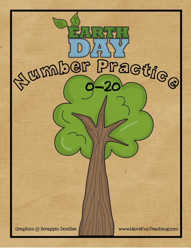 Earth Day Numbers Activity