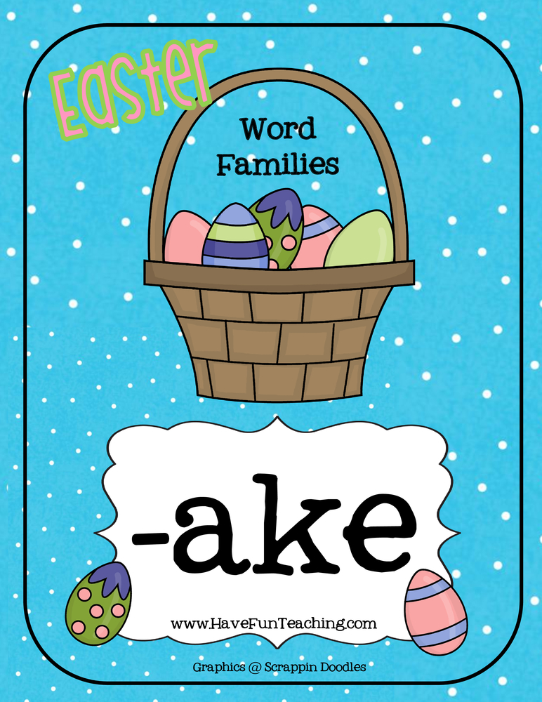 Easter Word Family Activity - AKE | Have Fun Teaching