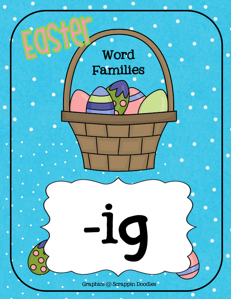 Easter IG Word Family Activity