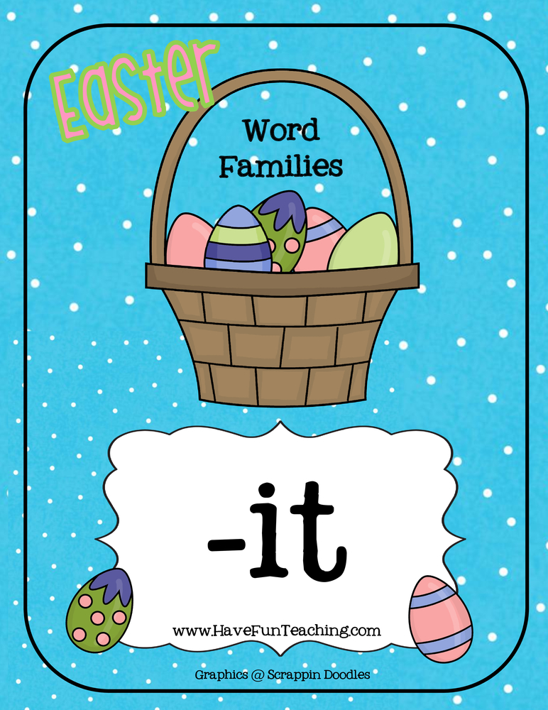 Easter IT Word Family Activity