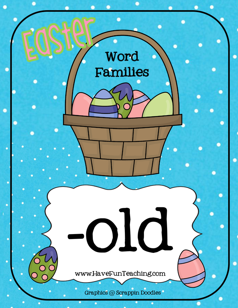 Easter OLD Word Family Activity