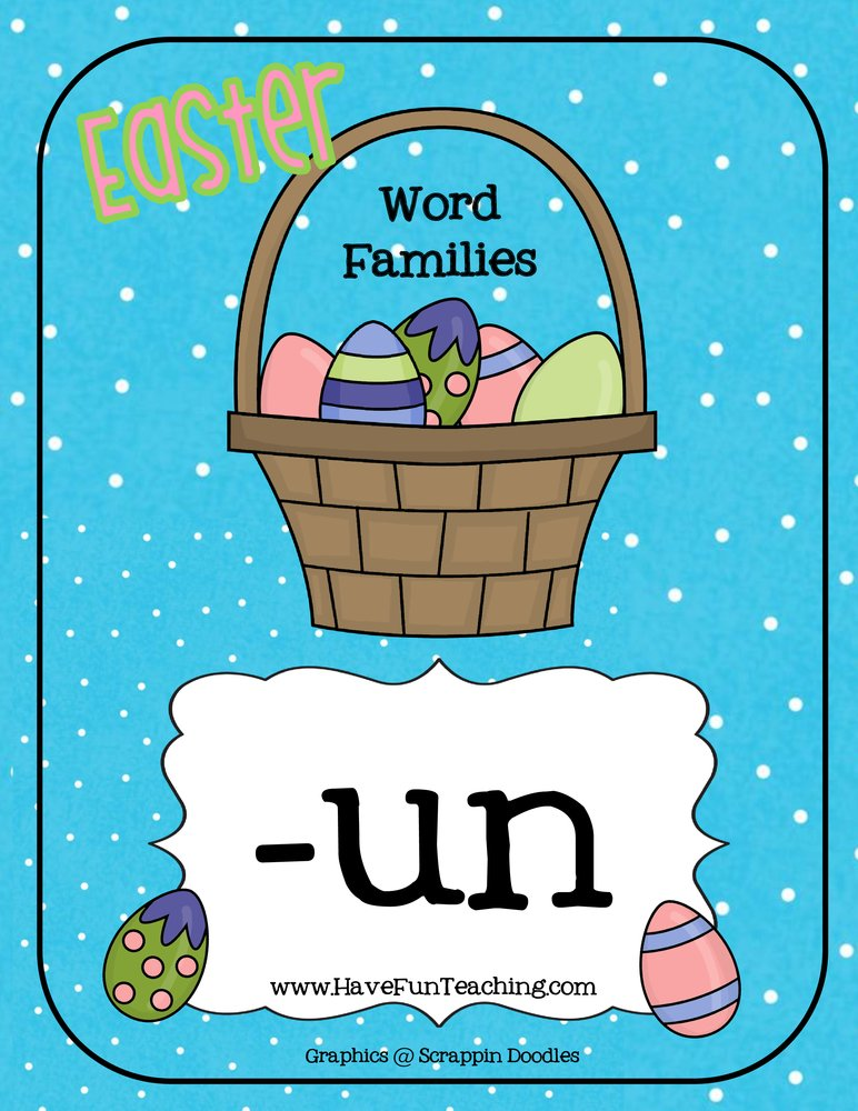 Easter UN Word Family Activity