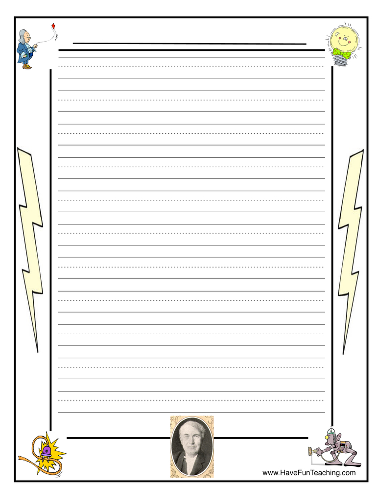 electricity-writing-paper