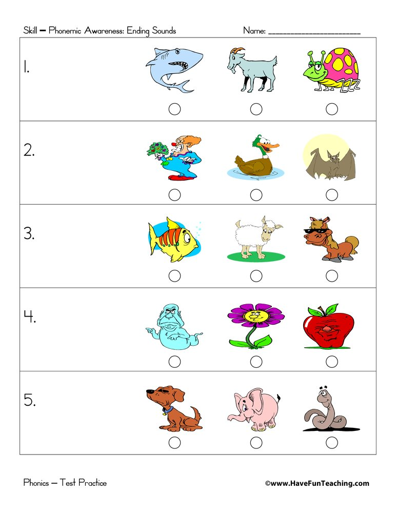 Preschool test practice have fun teaching for Koch quiz kinder