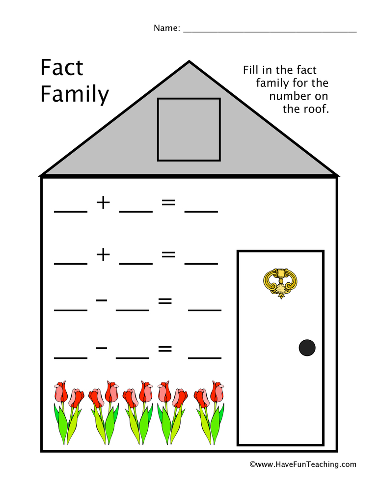 Fact Family Worksheets | Have Fun Teaching