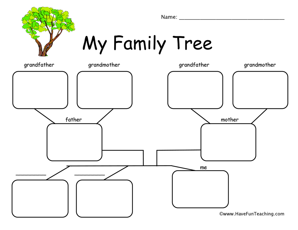 Printables Family Tree Worksheet family worksheets have fun teaching tree worksheet 3 children