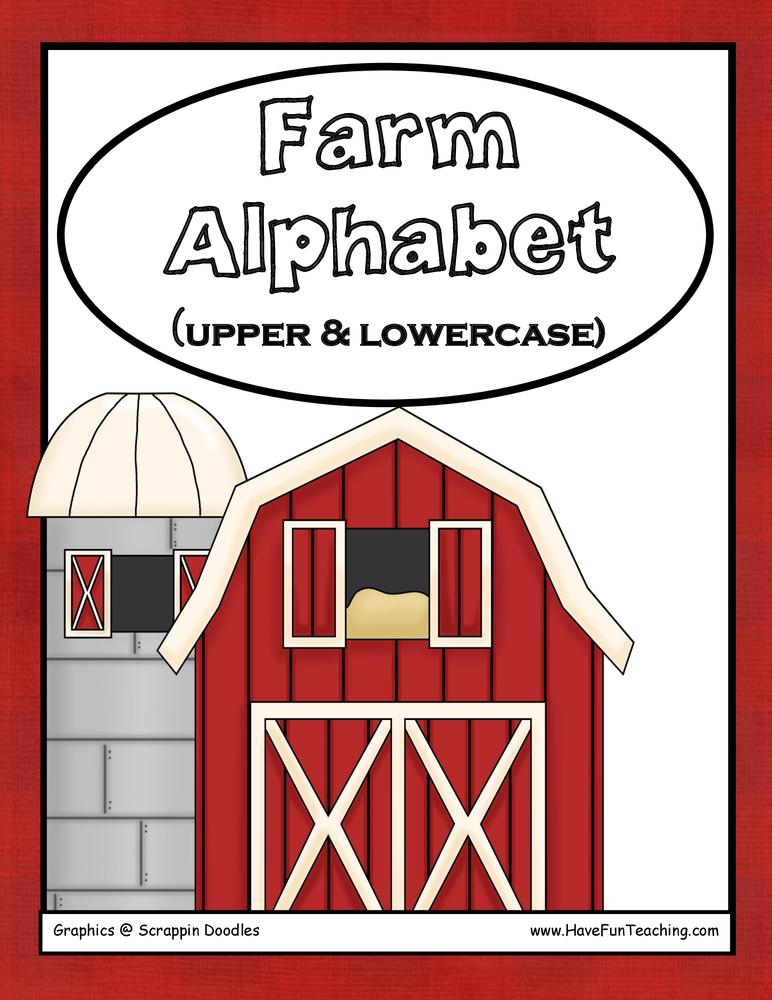 Farm Alphabet Letter Matching Activity