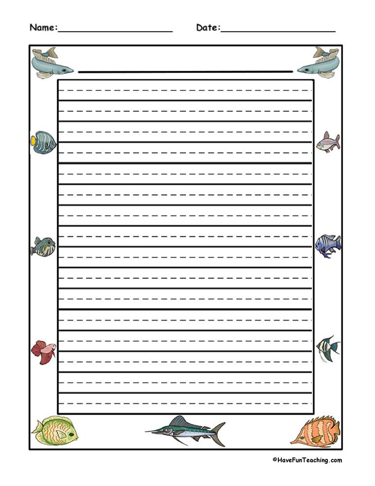 Border writing paper