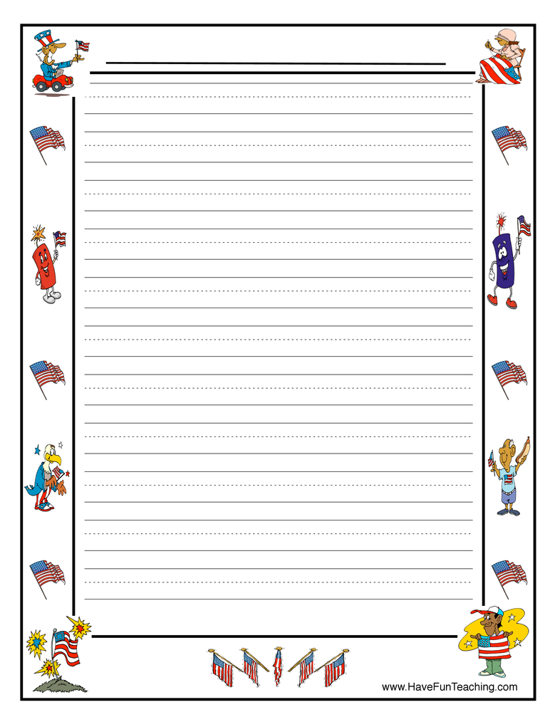 4th of July Worksheets - Have Fun Teaching