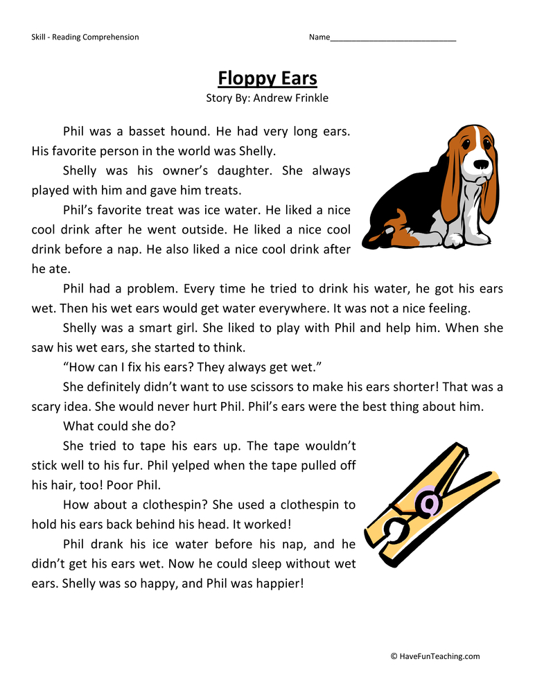 First Grade Reading Comprehension Worksheets | Page 2 of 7 ...