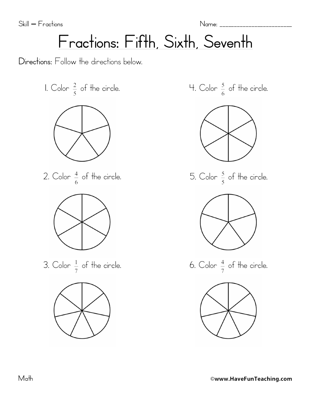 unit fractions worksheet equivalent fraction worksheetsfraction worksheet page 3 of have fun. Black Bedroom Furniture Sets. Home Design Ideas