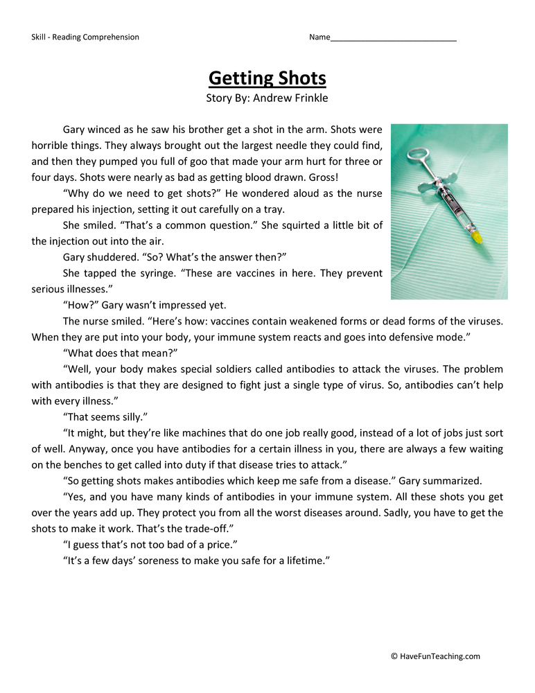 Worksheets Reading For 4th Graders : Fourth grade reading comprehension worksheets page of