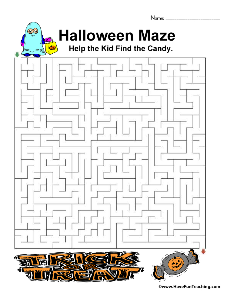 Halloween Worksheets | Have Fun Teaching