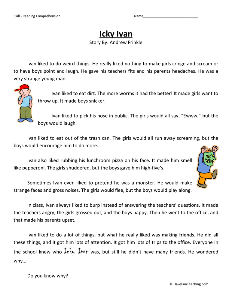 Third Grade Reading Comprehension Worksheets – Third Grade Comprehension Worksheets