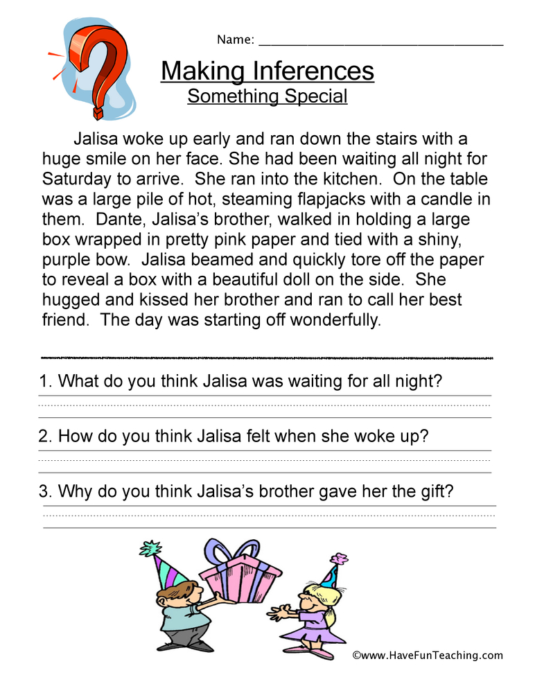 Inferences Worksheets  Have Fun Teaching