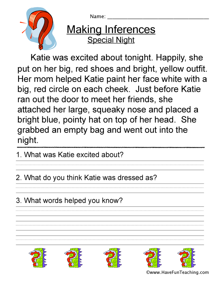 Worksheet Drawing Inferences Worksheets making inferences worksheet have fun teaching 2