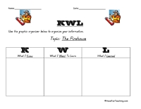Printables Kwl Worksheet kwl and kwhl worksheets have fun teaching firehouse graphic organizer