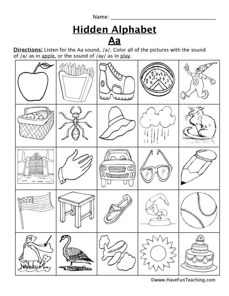 Letter Sounds Worksheets | Have Fun Teaching