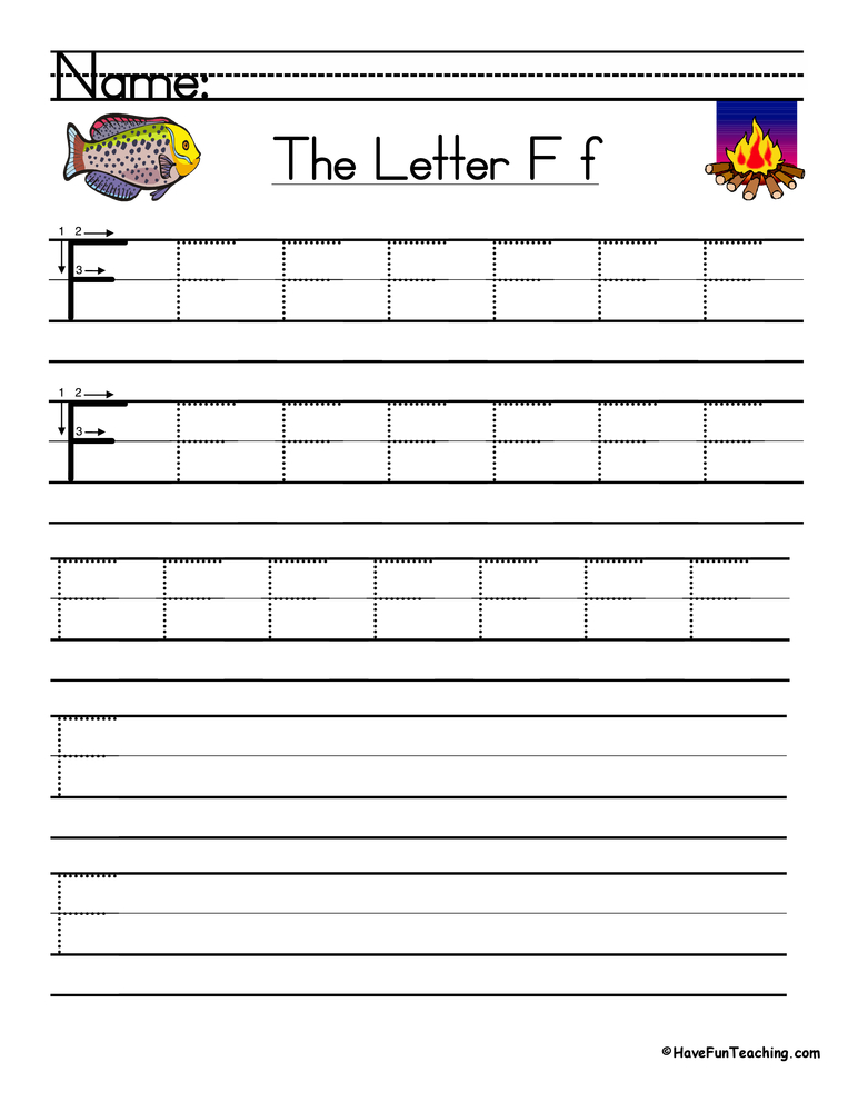 Letter F Handwriting Practice
