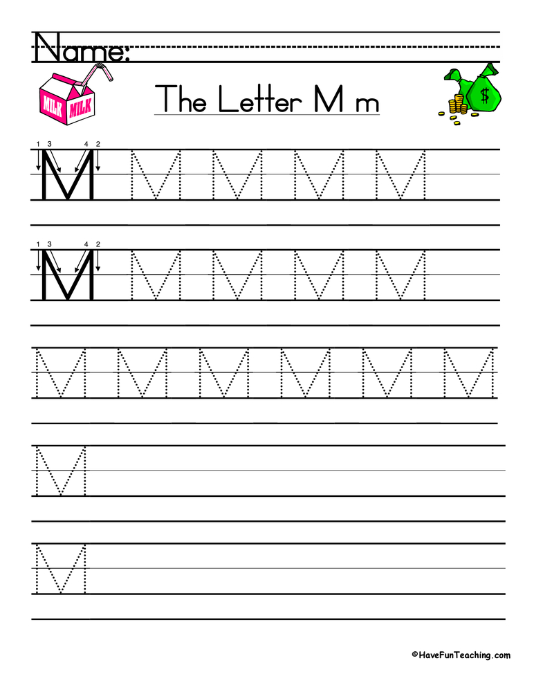 letter m handwriting practice have fun teaching. Black Bedroom Furniture Sets. Home Design Ideas