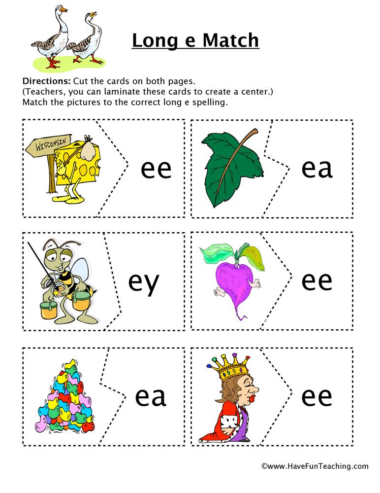 Long E Matching Puzzle