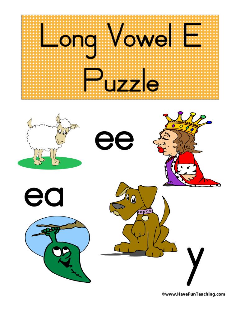 Long Vowel E Puzzle