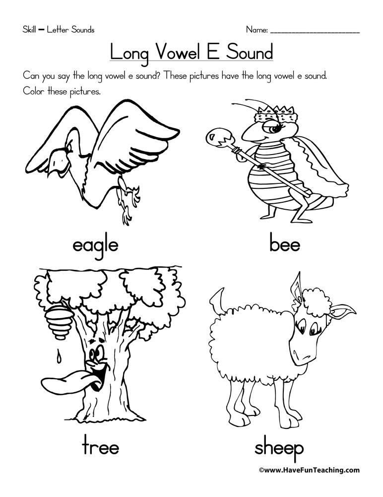 Long Vowel E Worksheet