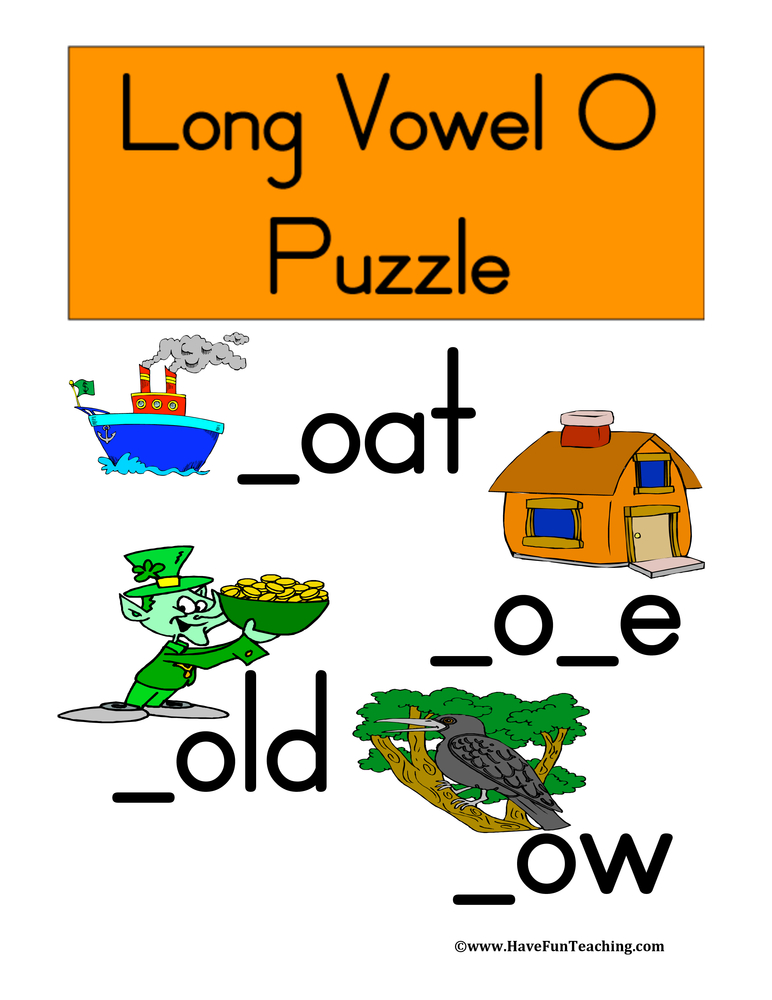 Long Vowel O Puzzle