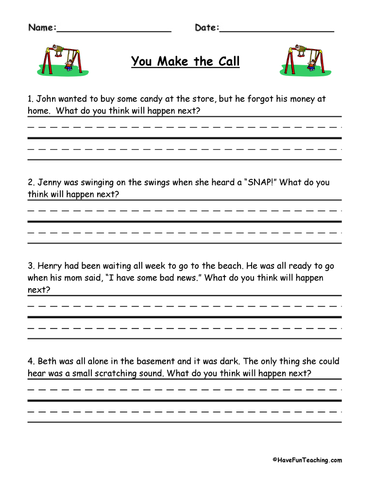 Resources Reading Inference Worksheets
