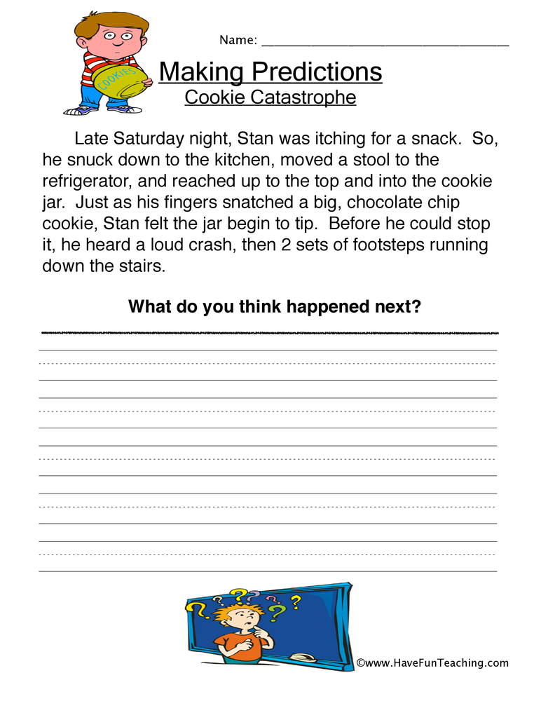 Predictions Worksheets - Have Fun Teaching