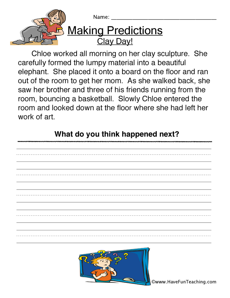 Worksheets Making Predictions Worksheets 3rd Grade predictions worksheet have fun teaching making 3