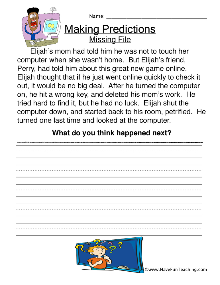 Worksheet Making Predictions Worksheets predictions worksheet have fun teaching making 4