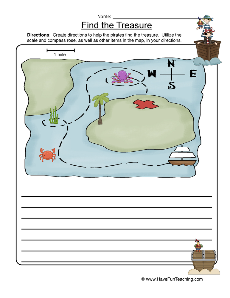 Map Skills Worksheets - Have Fun Teaching