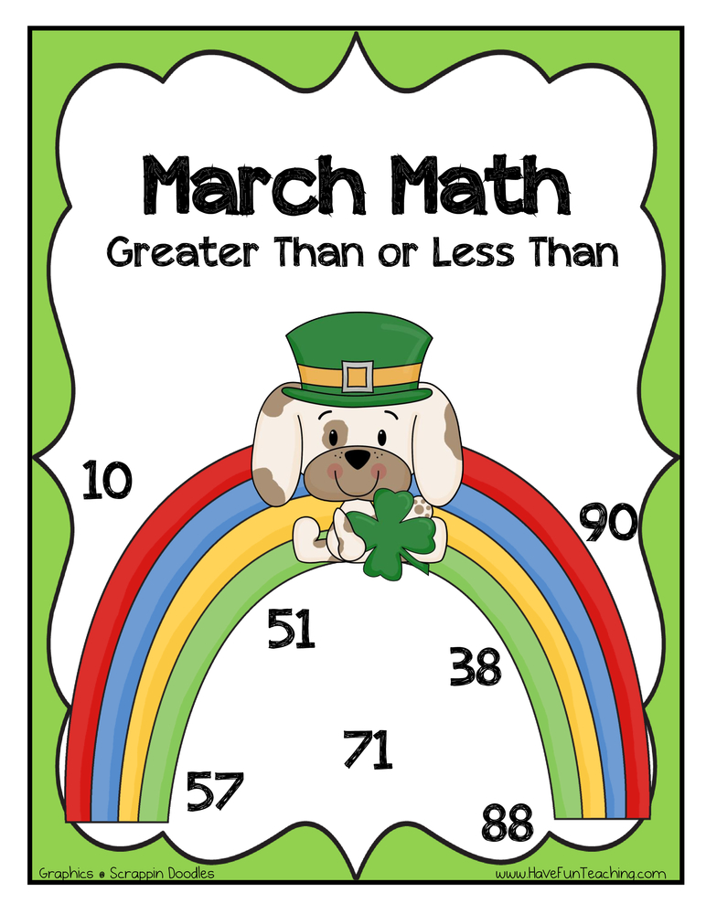 St. Patrick's Day Inequalities Activity