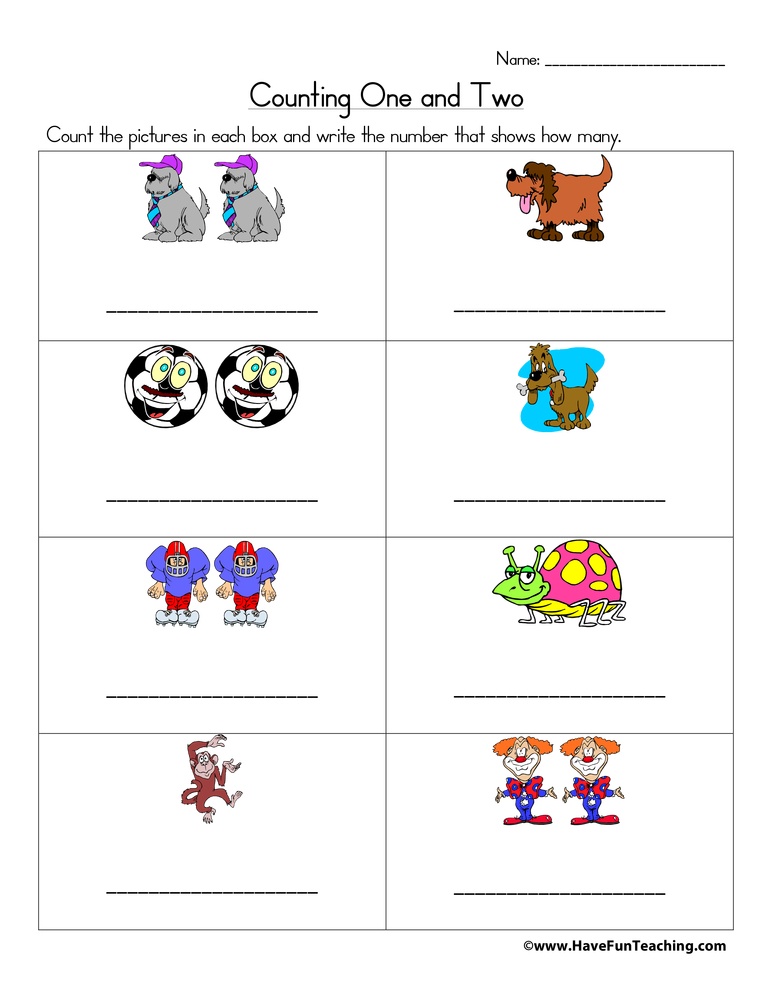 Counting Worksheets - Have Fun Teaching