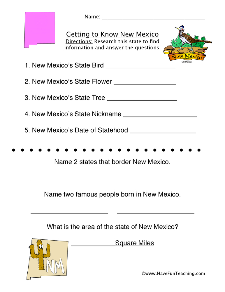 new-mexico-worksheet-1