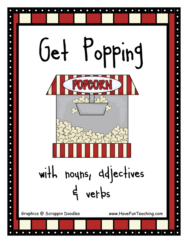 Free Printable Sorting Words by Nouns, Adjectives, and Verbs