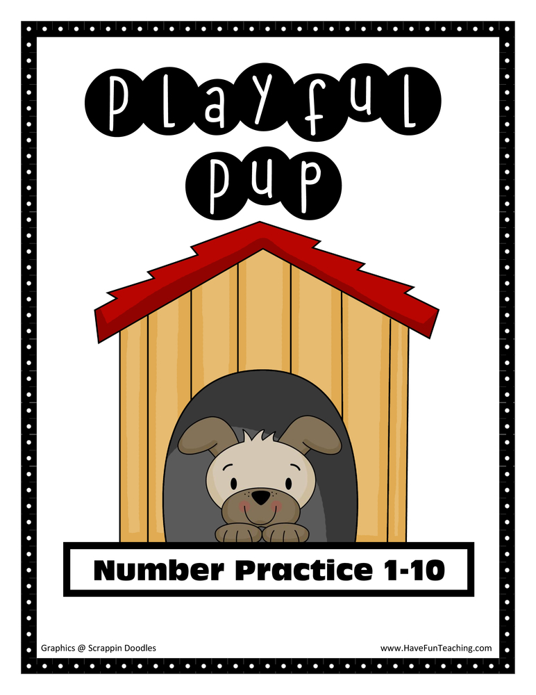 Playful Pup Number Matching Activity
