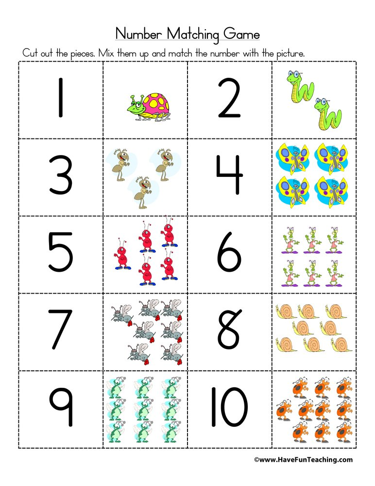 Number Matching Puzzle Activity