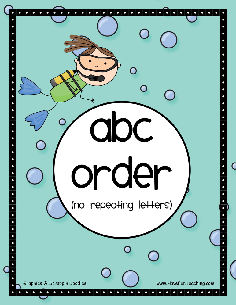 Alphabetical Order Activities | Have Fun Teaching