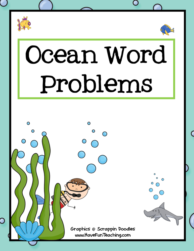 Ocean Math Word Problems Activity
