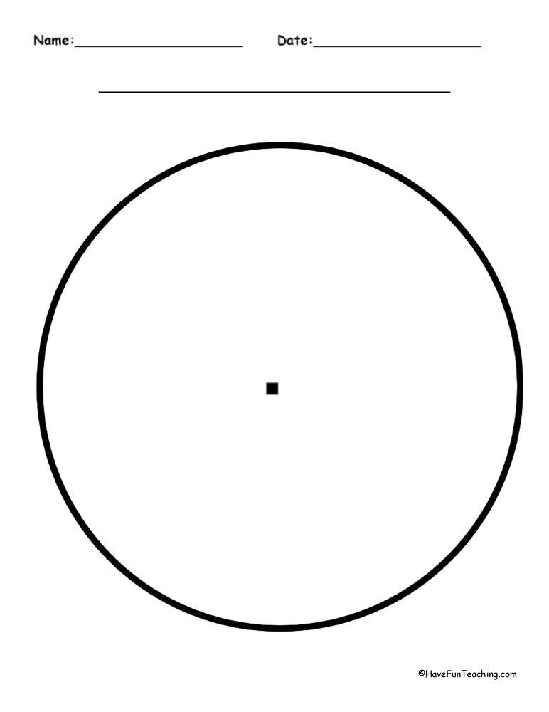 Blank Pie Graph - Have Fun Teaching