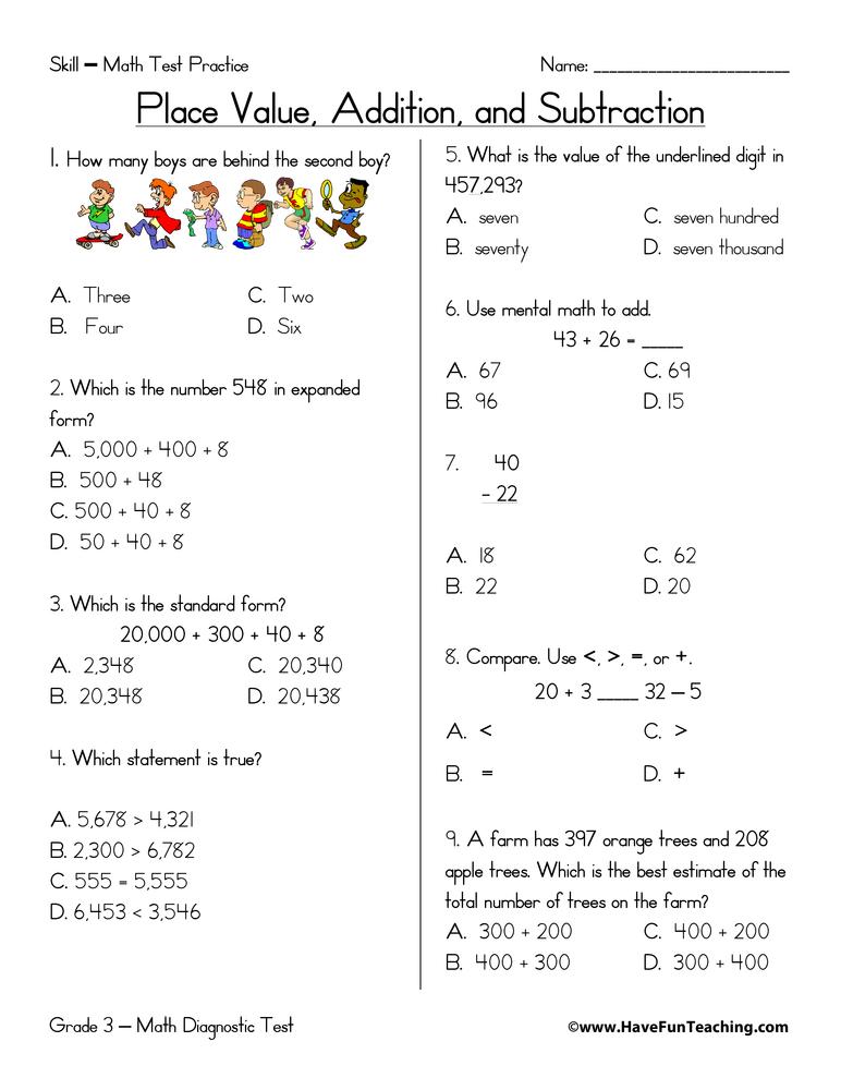 place-value-addition-subtraction-test