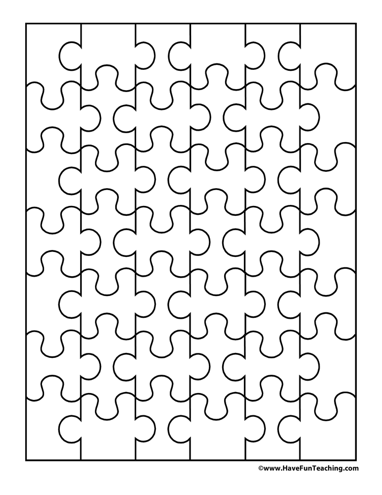 puzzle cut out template - printable base 10 blocks have fun teaching