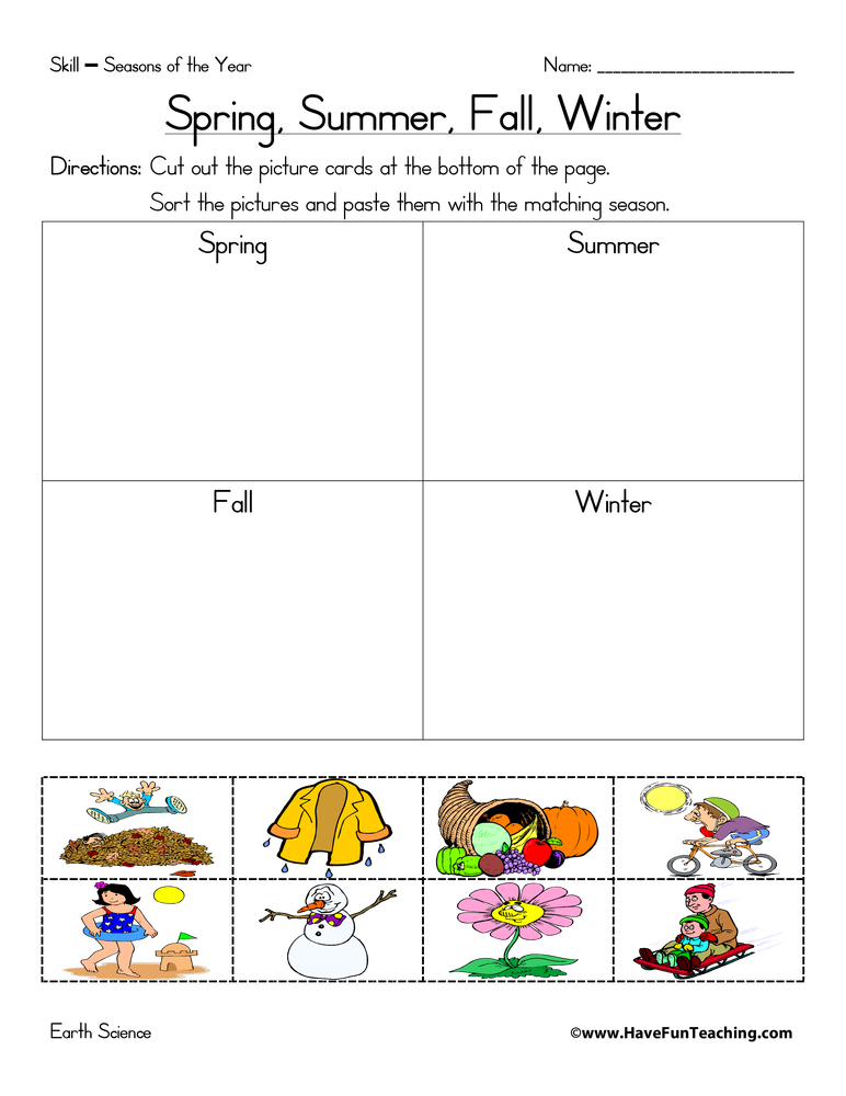 Seasons of the Year Worksheets - Page 2 of 2 - Have Fun Teaching