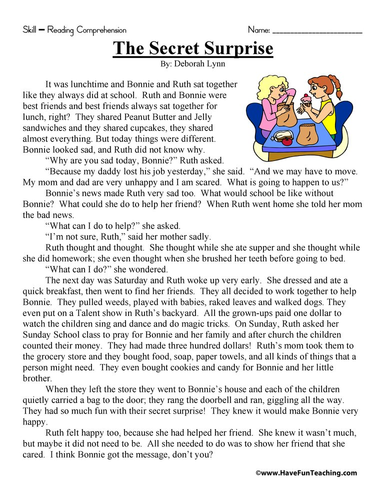 2nd Grade Reading Comprehension Worksheets : Thanksgiving reading comprehension worksheets for second
