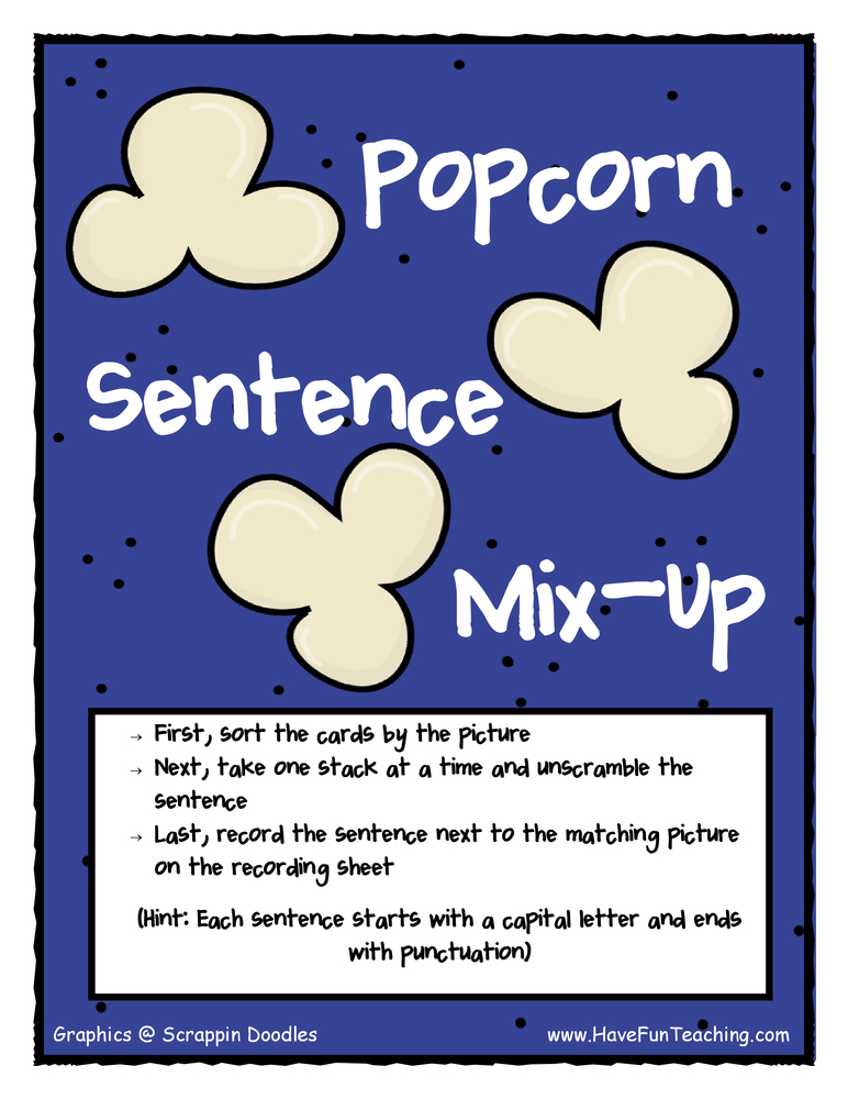 sentence-mix-up-popcorn-activity